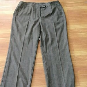 Jones NY Gray Striped Dress pants. 20 w petite